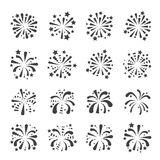 Firework icon. Web icon illustration design vector sign symbol Royalty Free Stock Photos