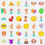 Firework icons set, cartoon style. Firework icons set. Cartoon style of 36 firework vector icons for web for any design vector illustration