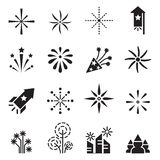 Firework icons set 2. Vector illustration Graphic Design symbol Stock Photography