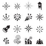 Firework icons set 2. Vector illustration Graphic Design symbol Stock Photography