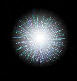 Firework illustrations. Firework illustration made by dots Royalty Free Stock Photo