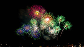 Firework. In important event midnight stock images