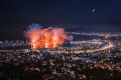 Free Firework In Cannes Royalty Free Stock Photos - 104244928