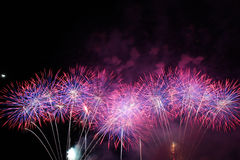 Firework. International firework festival in pattaya, thailand stock photography