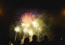 Firework2018inthailand. Happy New Year 2018 Stock Photo