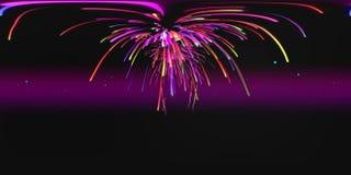 Firework Intro 3D VR stock video