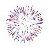 Firework isolated. Beautiful salute on white background. Bright firework decoration for Christmas card, Happy New Year. Celebration, anniversary, festival Royalty Free Stock Photo