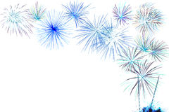 Firework isolated on white Royalty Free Stock Images