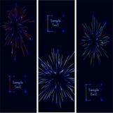 firework Jefe de Webside o sistema de la bandera Ilustración Stock de ilustración