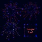 firework Jefe de Webside o sistema de la bandera Ilustración Libre Illustration