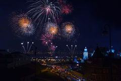 Firework in Kazan, Russia Royalty Free Stock Photography