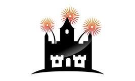 Firework Kingdom Template. Firework Kingdom Logo Design Template Vector Royalty Free Stock Images