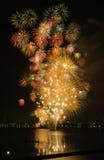 Firework on the Lake Stock Photos