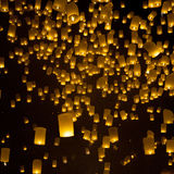 Firework lantern Festival in Chiangmai Royalty Free Stock Photo