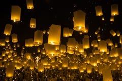 Firework lantern Festival in Thailand Royalty Free Stock Photos
