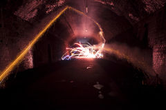 Firework in tunnel Stock Photos
