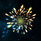 Firework, light effects  and grouped. . Stock Image
