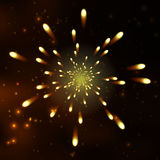 Firework, light effects isolated and grouped. . Stock Photo