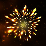 Firework, light effects isolated and grouped. . Royalty Free Stock Photo