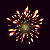 Firework, light effects isolated and grouped. . Royalty Free Stock Photography