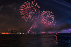 Firework And Light Show Stock Photo