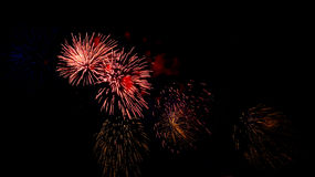 Firework lights Stock Image