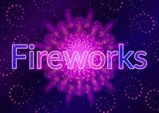 Firework Lilac on Black Royalty Free Stock Photo