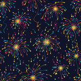 Firework line colorful seamless pattern. This illustration is design and drawing colorful line firework and star in seamless pattern Royalty Free Stock Photo