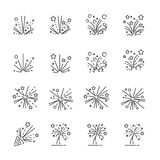 Firework line icon set 2, vector eps10.  Royalty Free Stock Photography