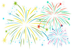 Firework in many colors Stock Image
