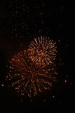 Firework and many  lantern Royalty Free Stock Photos