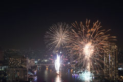 Firework new year festival,Bangkok,Thailand Royalty Free Stock Photography