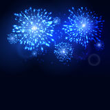 Firework new year holiday celebration template. Vector firework flame carnival event background.  Stock Image