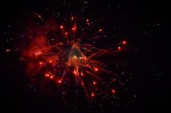 Firework. New Year, firework and lights Stock Photography