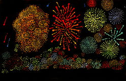 Firework. The new year's eve fireworks Royalty Free Stock Photos