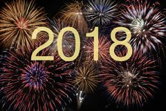 Firework at new years eve and silvester 2018. Background firework at new years eve and silvester 2018 Stock Photos