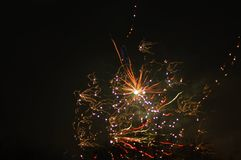 Firework on newyear Stock Image