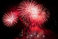 Firework in night. Royalty Free Stock Photo