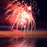 Firework in a night sky Stock Photos