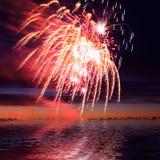 Firework in a night sky stock photos