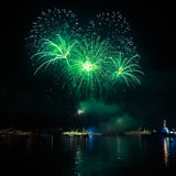 Firework in the night sky Royalty Free Stock Image