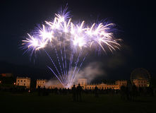 Firework at the Orangerie castle in Kassel, German. Y (during the folk festival Zissel royalty free stock photography