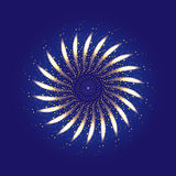 Firework ornament illustration Royalty Free Stock Photography