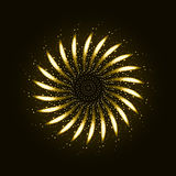 Firework ornament illustration Royalty Free Stock Photo