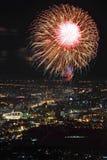 Firework over Bangkok, Thailand Stock Image