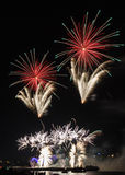 Firework over Cologne Royalty Free Stock Image