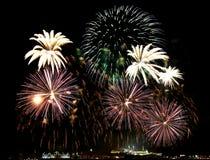Firework over Kremlin in kazan, Russia Royalty Free Stock Images