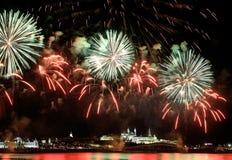 Firework over Kremlin in kazan (Russia) Royalty Free Stock Photos