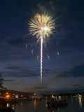 Firework over the lake. Stock Photography