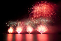 Firework over lake Royalty Free Stock Photo
